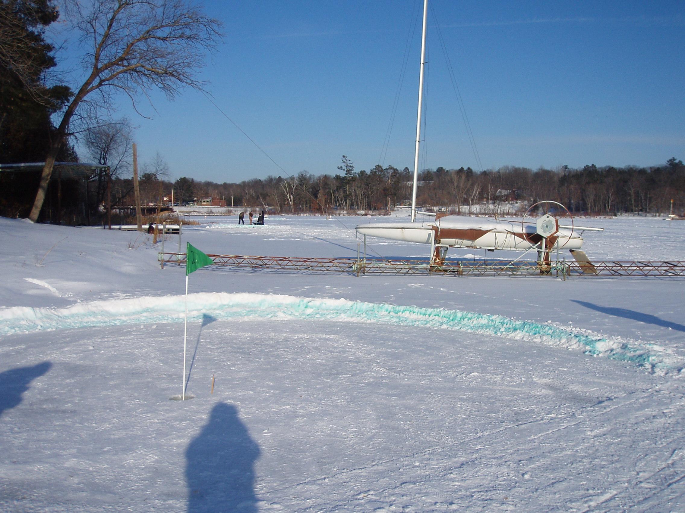 how to make a snow golf course